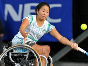 [第25回NEC全日本選抜車いすテニス選手権大会]予選から決勝まで完勝! 女子の上地が前人未到の8連覇