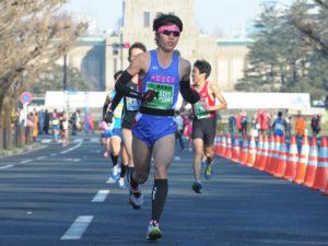 総合入賞した久保田の走り