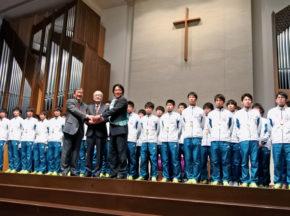 箱根王者の青学大、視覚障がい者マラソン伴走者の普及・育成への協力を表明