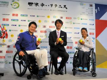 [ワールドチームカップ記者会見]日本代表の国枝、上地が優勝への想いを語る