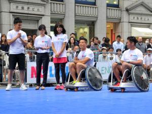 ラグビー日本代表からウィルチェアーの選手たちにエール