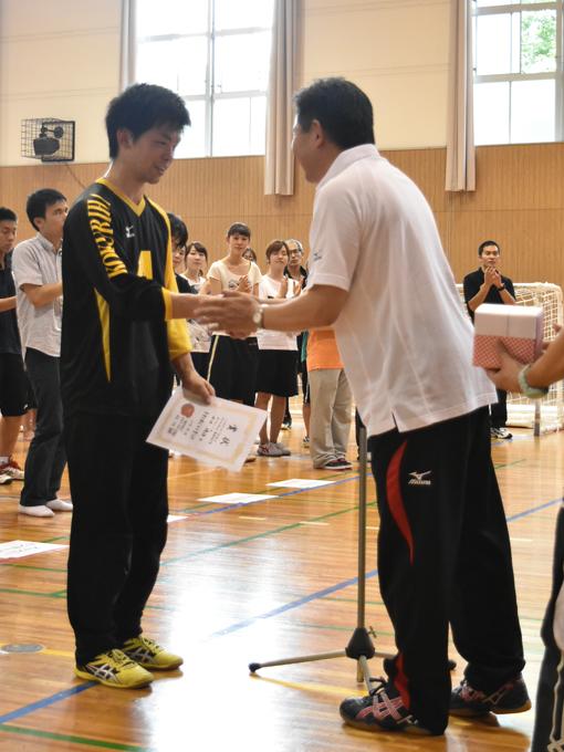 最優秀選手賞を受賞した田口侑治