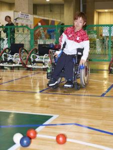 ボッチャ体験には、リオパラリンピック銀メダルの日本チームキャプテン杉村キャプテンが登場!