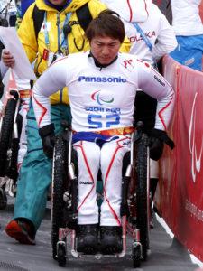 スーパーGで銀メダルだった森井選手=ソチパラリンピック