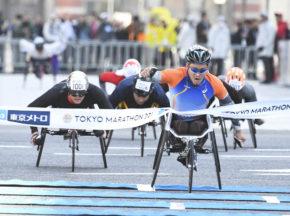 [第11回東京マラソン] 車いすレースの醍醐味が詰まった、新星・東京マラソン。男子は渡辺が制す