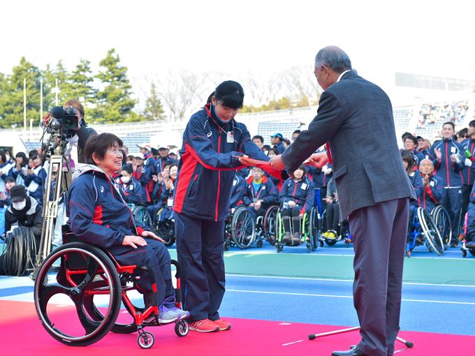 最も応援が印象的だったチームに贈られる日本財団会長賞は、初出場の「TEAM MIYAGI」が受賞した