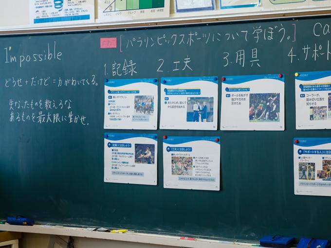 教材にセットされているスライドを活用して授業が進められた