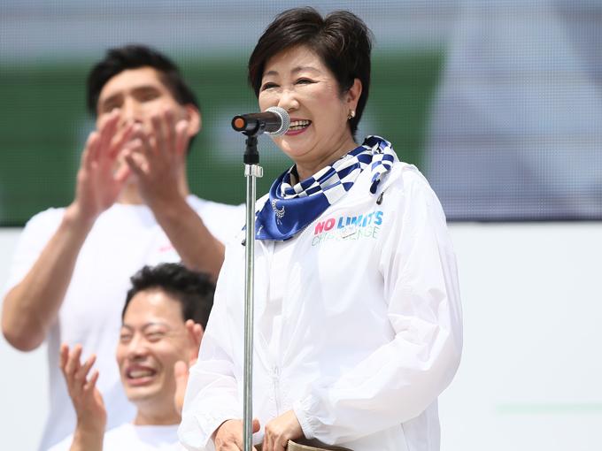 小池都知事は「2020年のパラリンピック大会に向けて、どんどん盛り上げてください」とメッセージを送った
