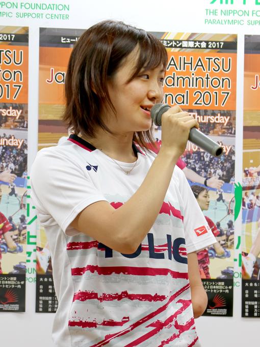 タイ大会の女子シングルスで準優勝を果たした豊田