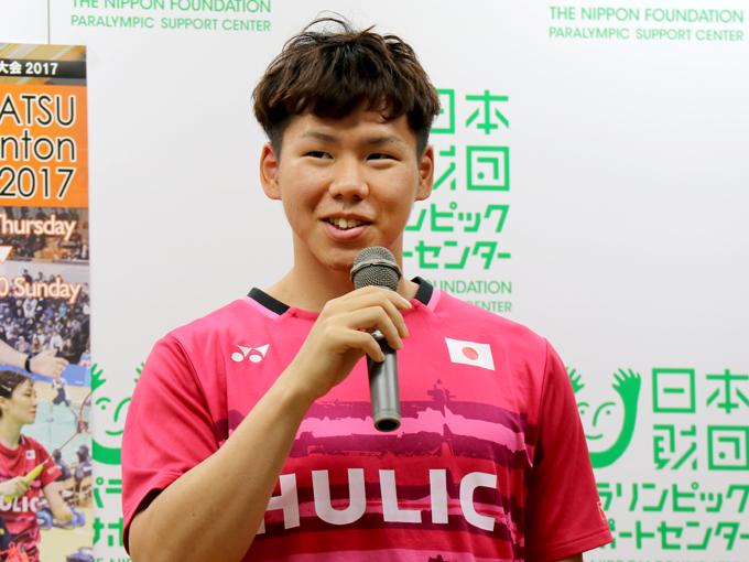 国内シングルス2連覇中の藤原