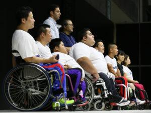 日本選手7人とイランのラーマンが登壇
