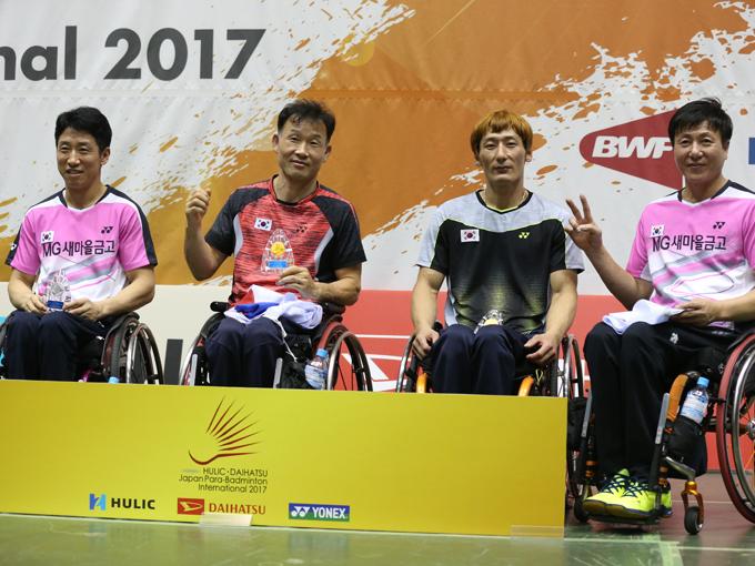 車いすクラスで圧倒的な力を見せた韓国代表選手たち
