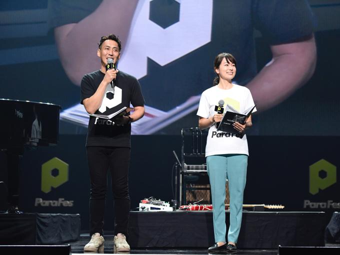 司会を務めたDJのnico(左)とフリーアナウンサーの本田朋子
