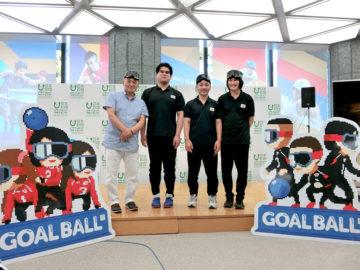 目隠しをしてプレーする疑似体験ができる! 日本ゴールボール協会監修の新感覚ゲームアプリ「ENJOY! PARA SPORTS GOAL BALL」をお披露目