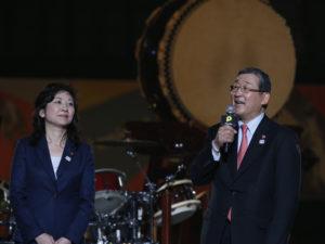 パラフェスへの思いを語る、 発起人の野田聖子議員と山脇康パラサポ会長