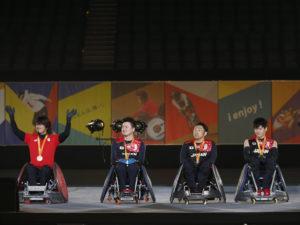 団体競技からは、リオパラリンピックで銅メダルを獲得した日本代表の池崎大輔、今井友明、官野一彦、羽賀理之が出演