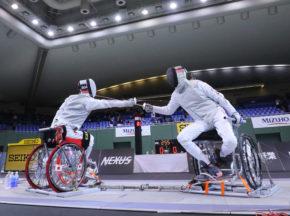 [車いすフェンシングオープン大会]健常の日本選手権でエキシビションを実施。安直樹が優勝も「納得していない」