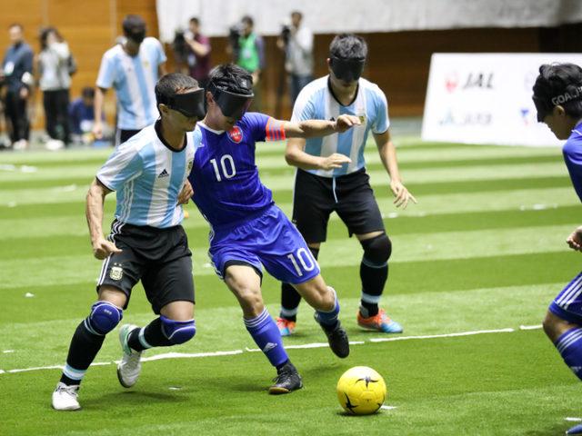ブラインドサッカー日本代表vs強豪アルゼンチンに1-3