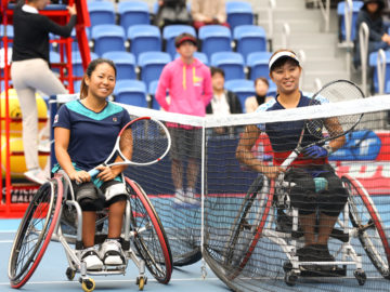 車いすテニス・選手の声を活かして準備着々。東京2020大会テストイベント開催