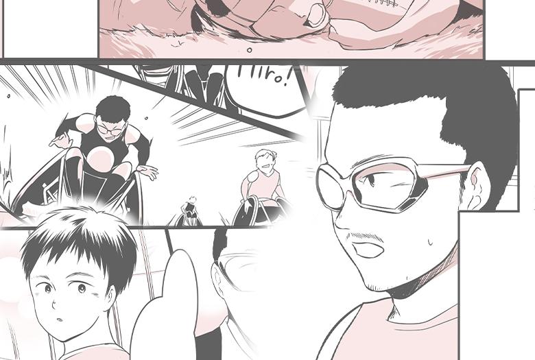 【漫画】道を拓いた海外武者修行!車いすラグビー元日本代表選手・三阪洋行